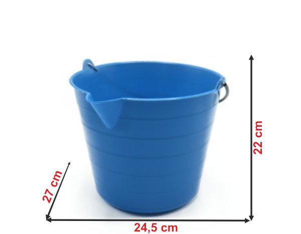 Informação dimensional do balde 908B