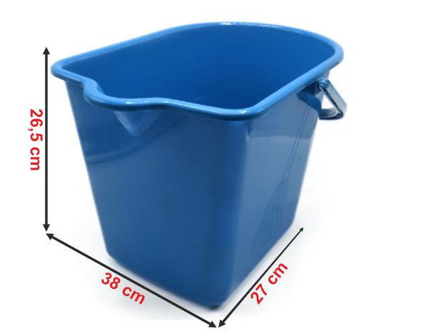 Informação dimensional do balde rectangular 913B