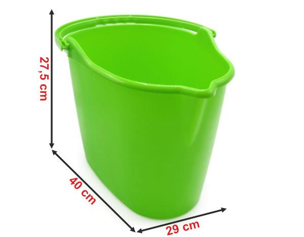 Informação dimensional do balde oval para esfregona 914B