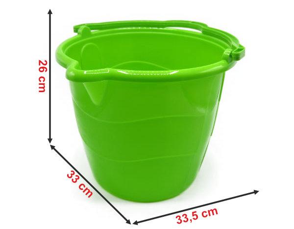 Informação dimensional do balde redondo para esfregona916B