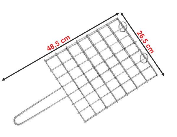 Informação dimensional da grelha GQ4