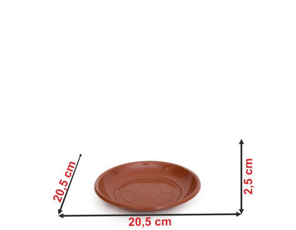 Informação dimensional do prato do vaso P25