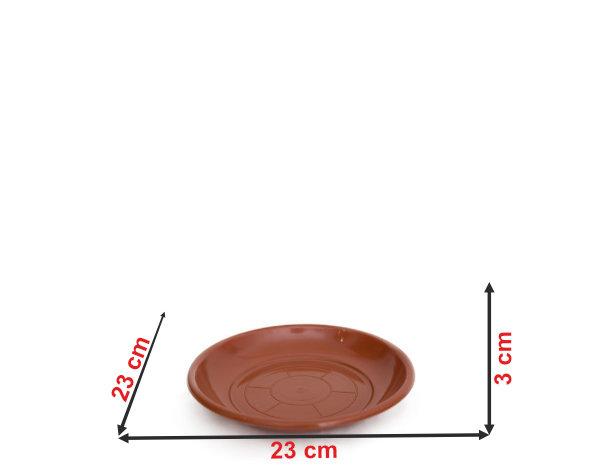 Informação dimensional do prato do vaso P28