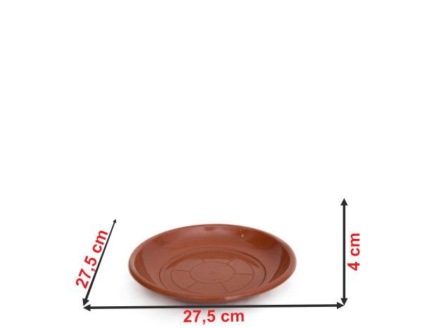 Informação dimensional do prato do vaso P34