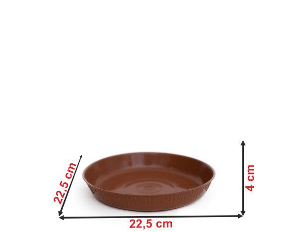 Informação dimensional do prato do vaso P7