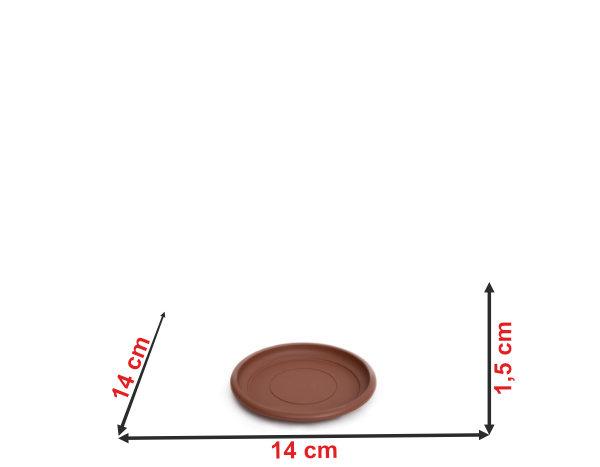 Informação dimensional do prato do vaso terracota PT18