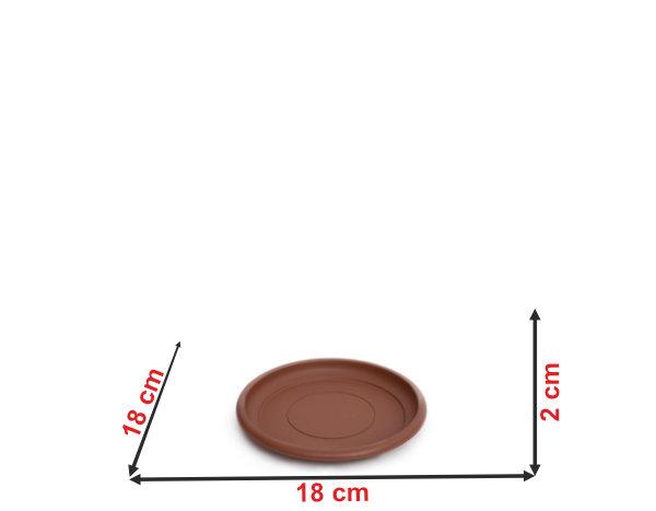 Informação dimensional do prato do vaso terracota PT23