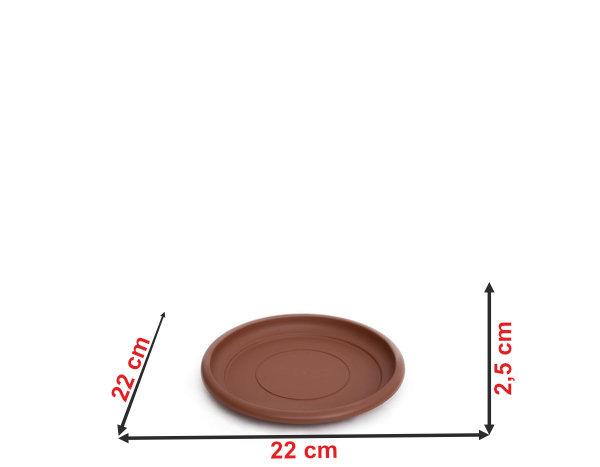 Informação dimensional do prato do vaso terracota PT28