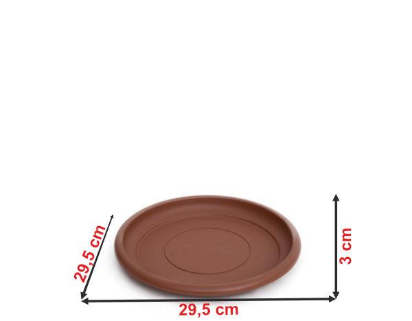 Informação dimensional do prato do vaso terracota PT38