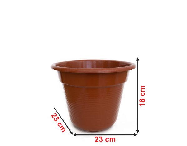 Informação dimensional do vaso V25