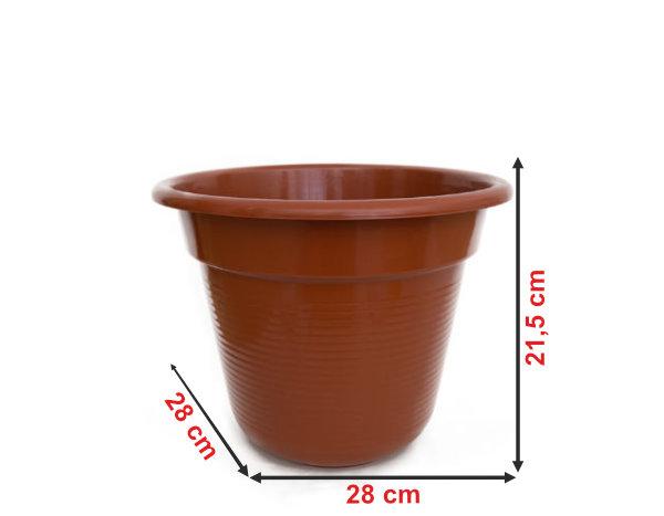 Informação dimensional do vaso V28