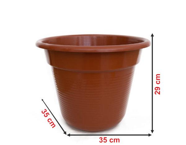 Informação dimensional do vaso V34
