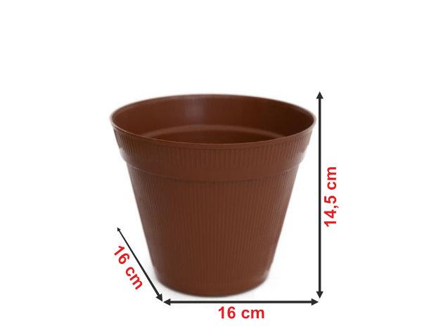 Informação dimensional do vaso V4