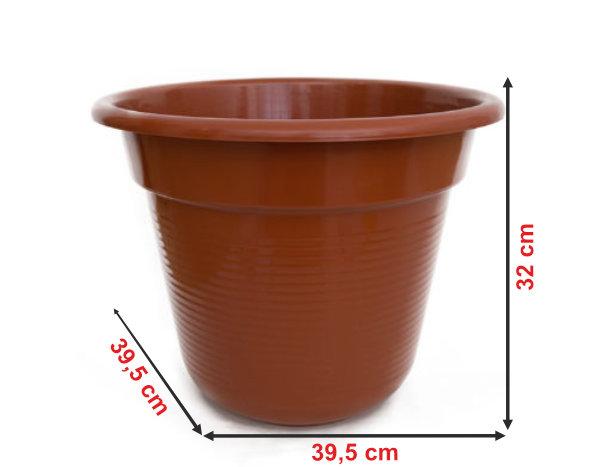 Informação dimensional do vaso V40