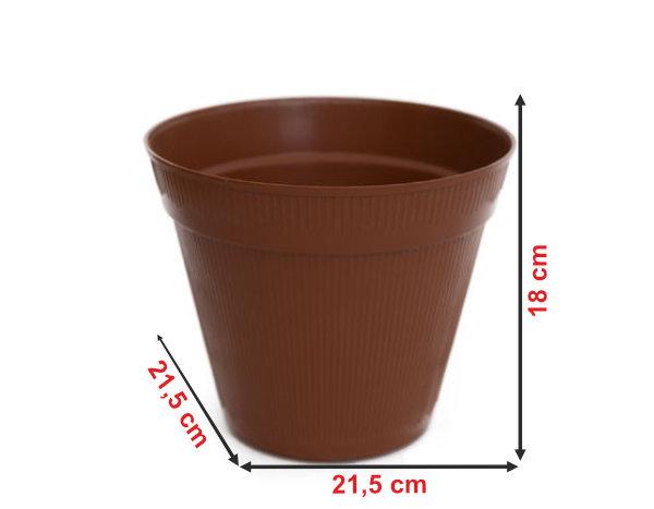 Informação dimensional do vaso V5