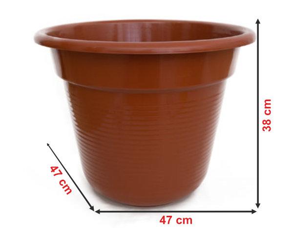 Informação dimensional do vaso V50