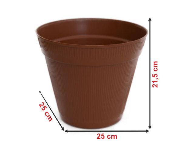 Informação dimensional do vaso V6