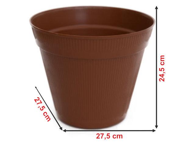 Informação dimensional do vaso V7