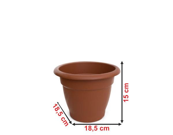 Informação dimensional do vaso terracota VT18