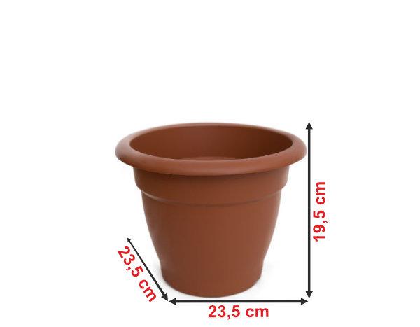 Informação dimensional do vaso terracota VT23