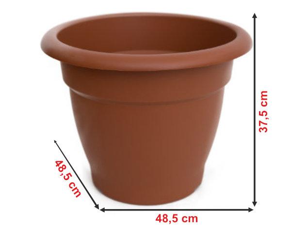 Informação dimensional do vaso terracota VT48