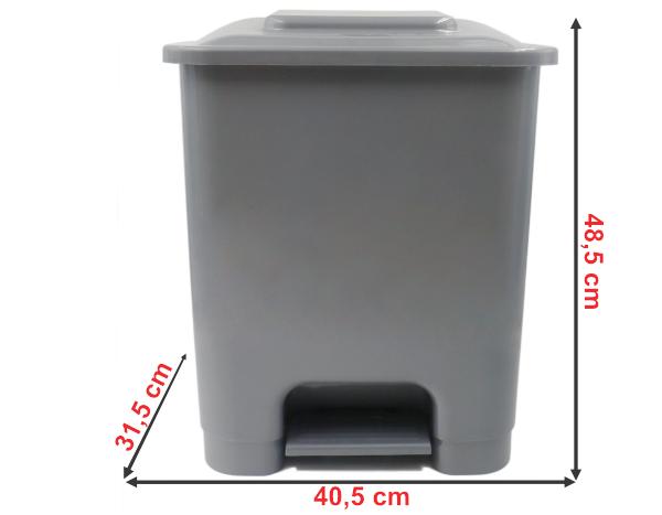 920B | Balde do Lixo c/ Pedal (35L) | Medidas
