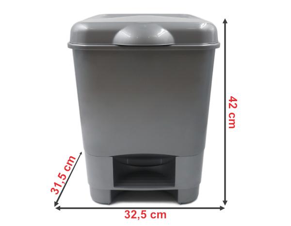 922B   Balde do Lixo c/ Pedal (20L)   Medidas